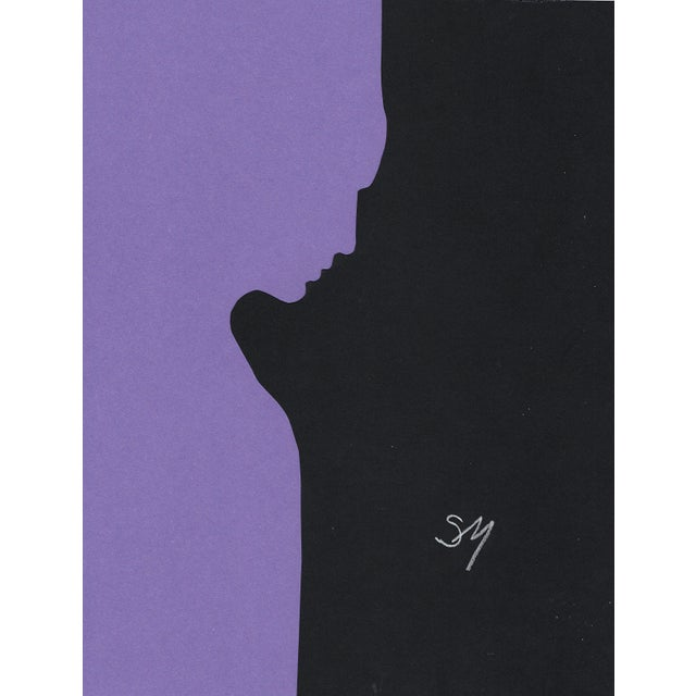 "Purple ""Profile 3 - Purple"", Minimalist Collage by Sarah Myers For Sale - Image 8 of 8"