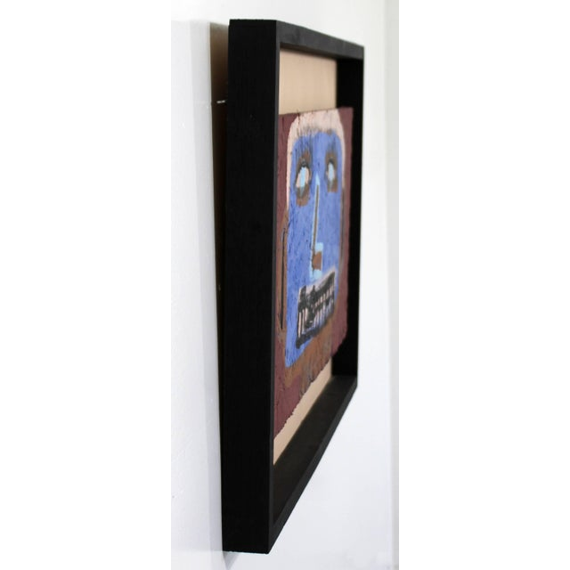 Contemporary Framed Painting on Wood Portrait Signed Tyree Guyton Dated 2000s For Sale - Image 4 of 8