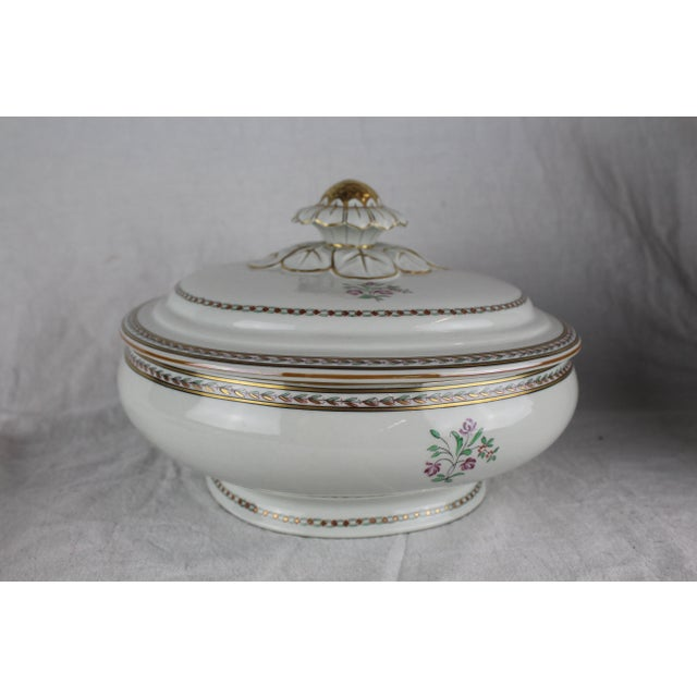 Asian Vista Alegre Covered Vegetable Dish For Sale - Image 3 of 6