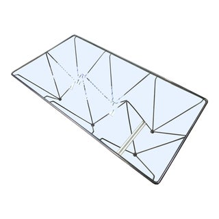 Chrome and Glass Geometric Coffee Table in the Manner of Paolo Piva For Sale