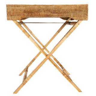 Artifacts Rattan Butler Tray Table For Sale