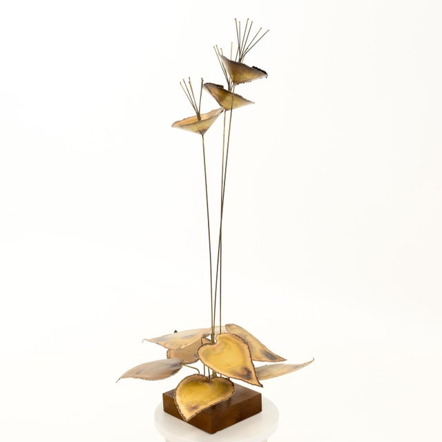 Curtis Jere Mid Century Brass Sculpture 15 wide x 15 deep x 31 high Great vintage condition