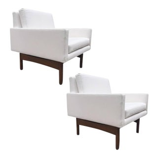 Pair of Jens Risom Lounge Chairs