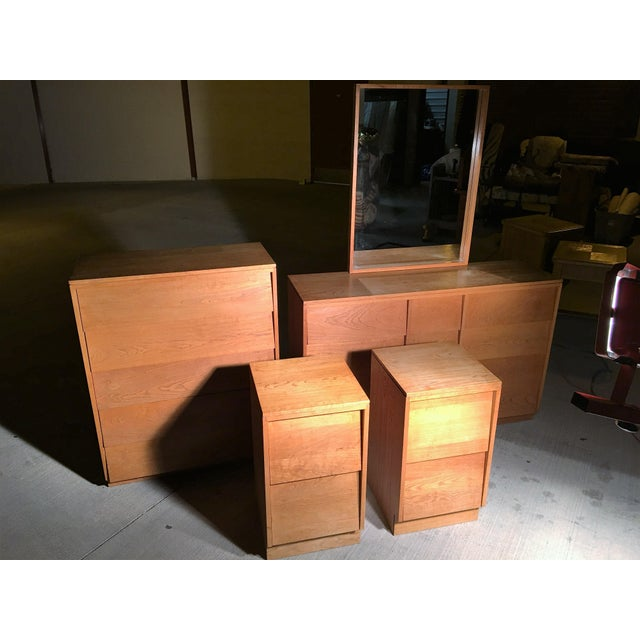 Mid-Century Modern Solid Wood Nightstands - A Pair - Image 5 of 5