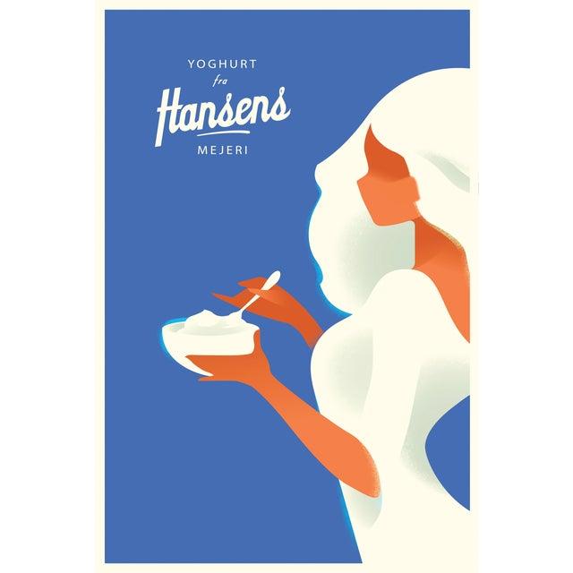Mads Berg 'Hansen's Yoghurt' Danish Poster - Image 1 of 2
