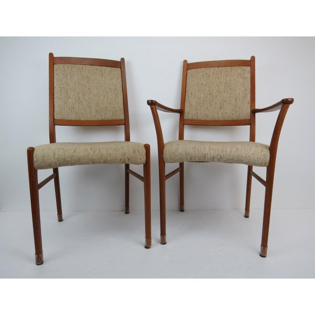 1960s 1960s Sculptural Mid-Century Modern Danish Teak Dining Chairs - Set of 4 For Sale - Image 5 of 13