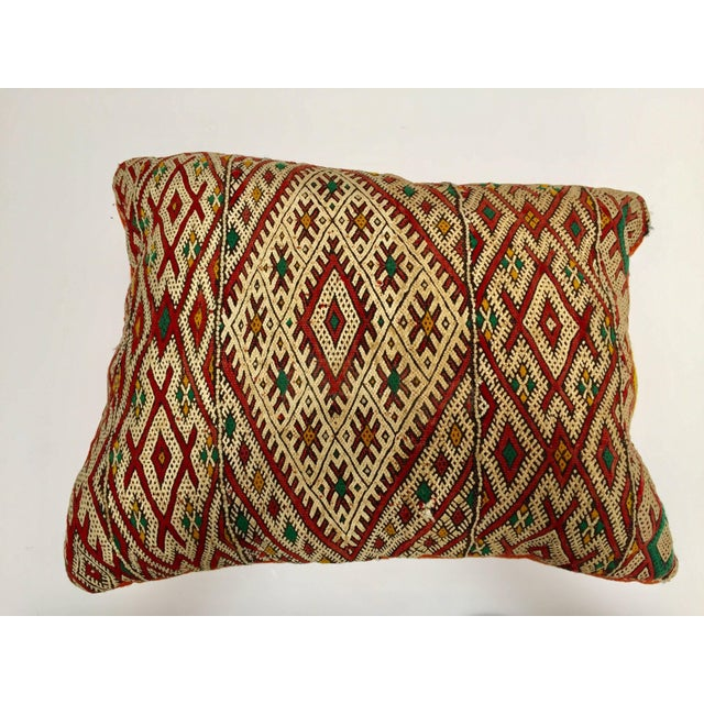 Moroccan Berber Pillow With Tribal African Designs For Sale - Image 13 of 13