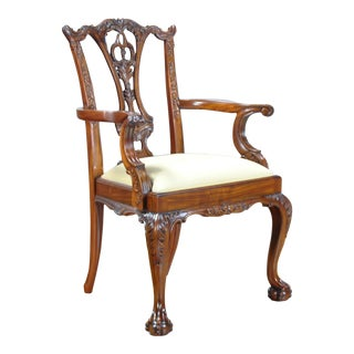 Standard Chippendale Arm Chair For Sale