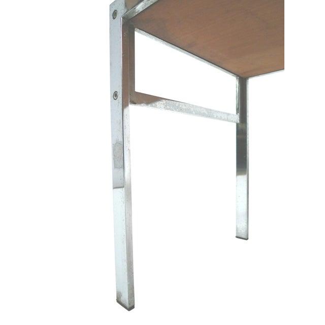 Modern Walnut & Chrome Low Coffee Table - Image 6 of 7
