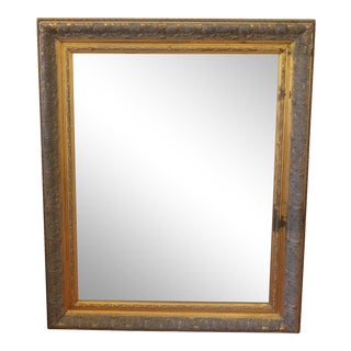 Mid-20th Century Gold Leafed Carved Wood Mirror For Sale