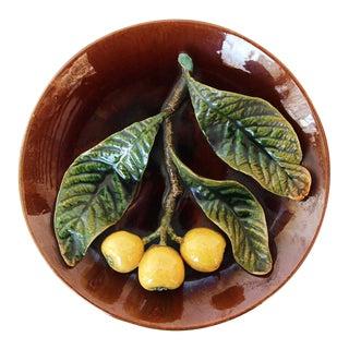 Antique Portuguese Palissy Ware Plate, Bordallo Pinheiro For Sale