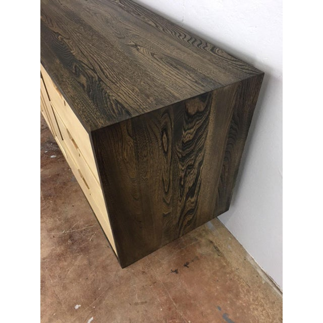 Two-Toned Mid Century Modern Credenza For Sale - Image 10 of 11