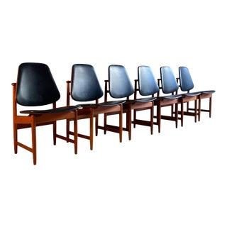 Arne Hovmand-Olsen Teak Dining Chairs Hovmand-Olsen, 1950s - Set of 6 For Sale