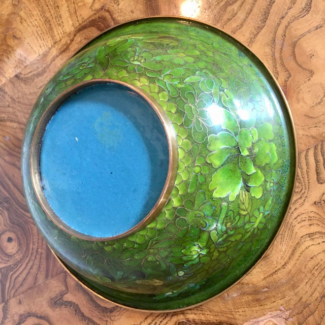 Green Cloisonne Catchall Bowl For Sale In Richmond - Image 6 of 7