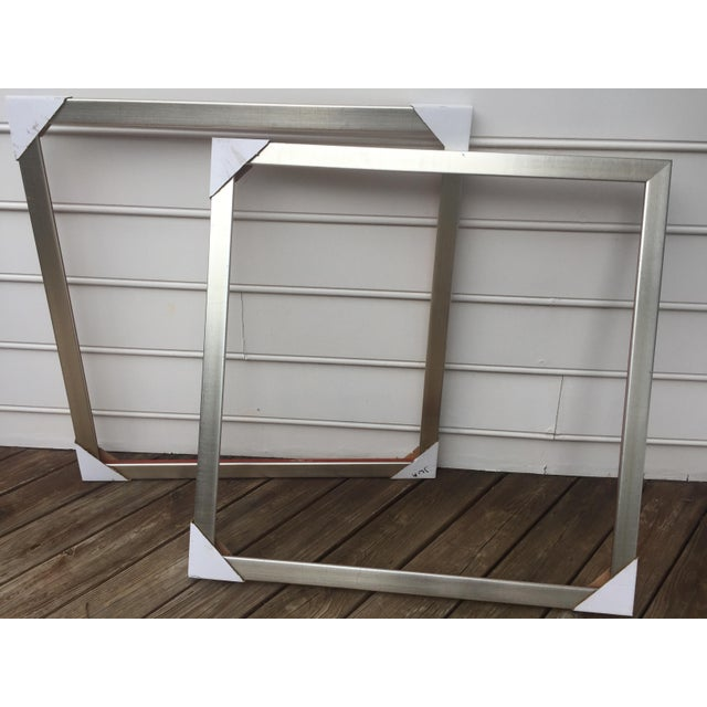 Large Square Roma Moulding Frames - A Pair - Image 9 of 11