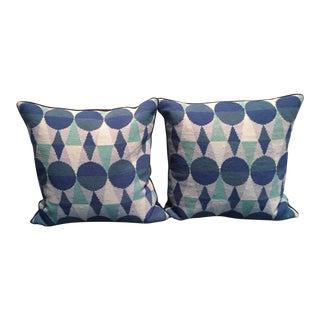 Jonathan Adler Mod Needlepoint Pillows - a Pair
