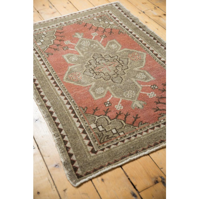 """Old New House Vintage Distressed Oushak Rug - 3'2"""" X 4'5"""" For Sale - Image 4 of 11"""