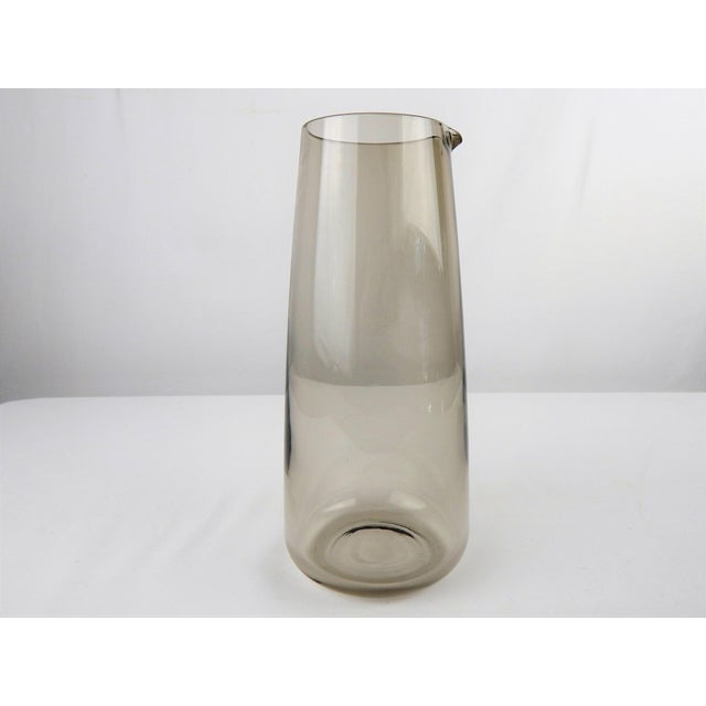 Mid 20th Century Mid Century Smoked Glass Martini Pitcher For Sale - Image 5 of 8