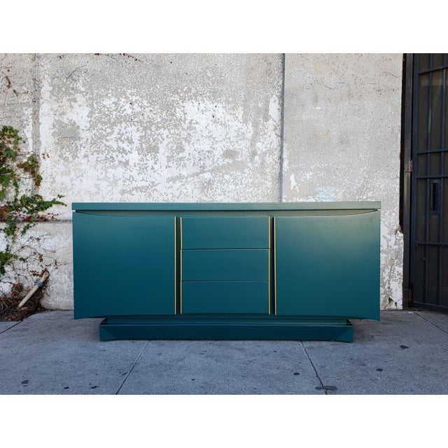 1970s Vintage American of Martinsville Teal Dresser For Sale In Los Angeles - Image 6 of 6