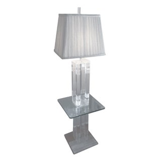 Lucite & Glass Floor Lamp