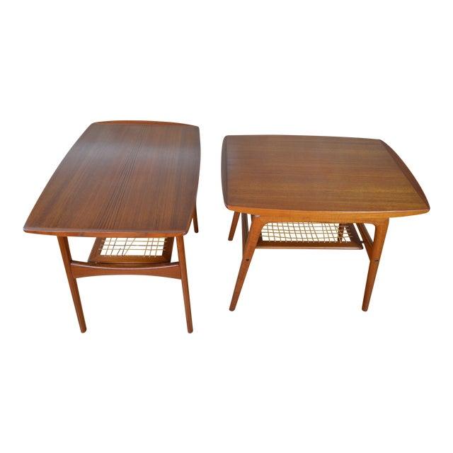 Arne Hovmand Olsen for Mogens Kold Danish Teak End Tables For Sale