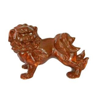 1970s Asian Ceramic Foo Dog Statue For Sale