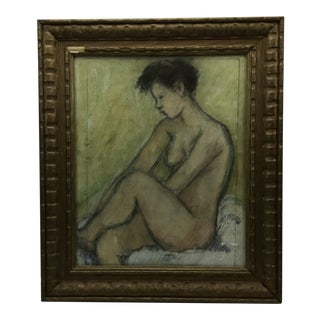 French Pastel Nude Study C. 1950 For Sale