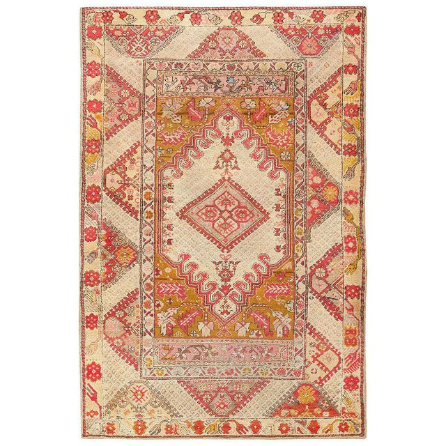 Textile Antique Turkish Ghiordes Rug For Sale - Image 7 of 7