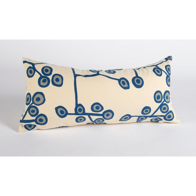 Scandinavian Floral Cream Lumbar Pillow For Sale In Raleigh - Image 6 of 6