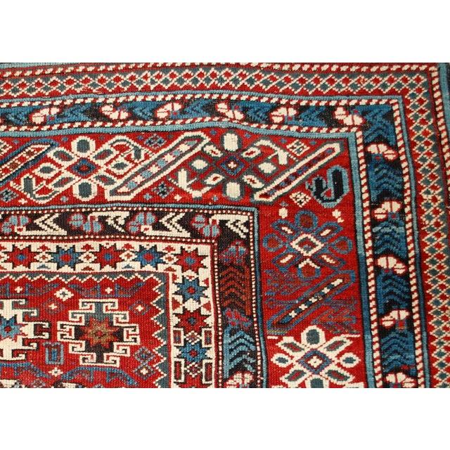 1880s Antique Caucasian Chichi Rug - 4′2″ × 5′6″ - Image 7 of 10