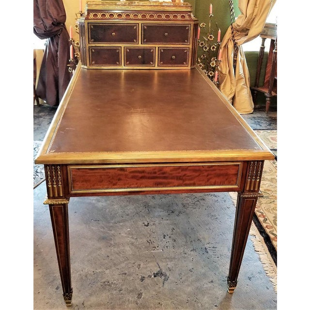 19th Century Louis XVI Style Desk by Paul Sormani For Sale - Image 12 of 13