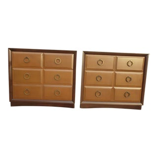 1950s Mid Century Modern Widdicomb t.h. Robsjohn Gibbings Matching Chest of Drawers - a Pair