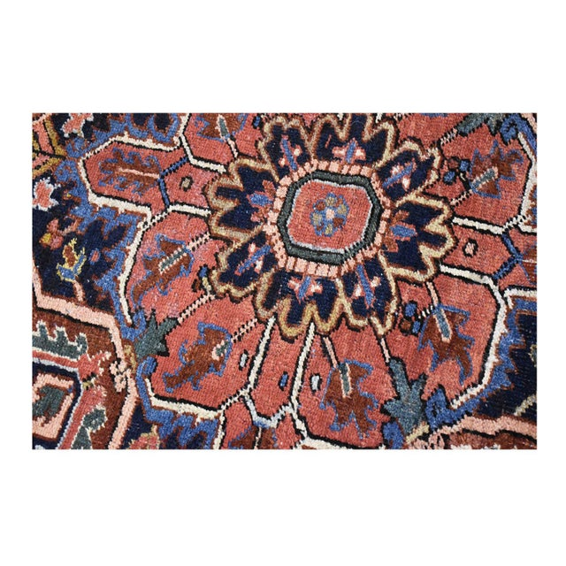 Antique Persian Heriz Rug - 9 x 11.10 - Image 7 of 9