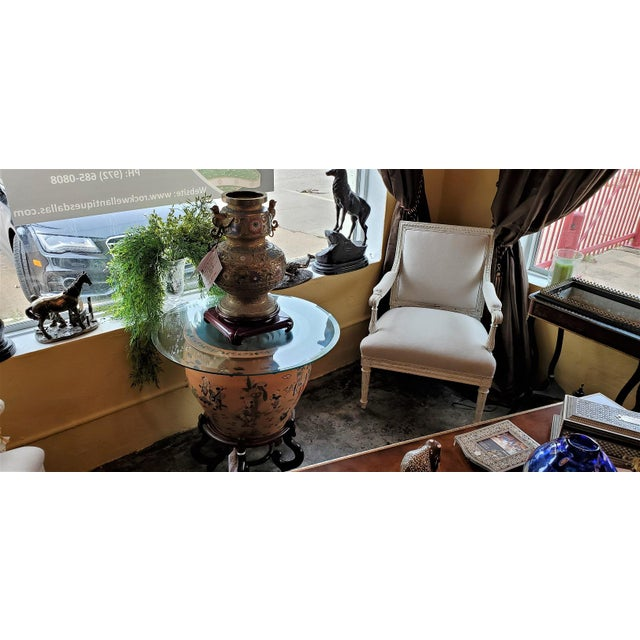 Large Chinese Fish Bowl Side Table With Stand For Sale - Image 12 of 13