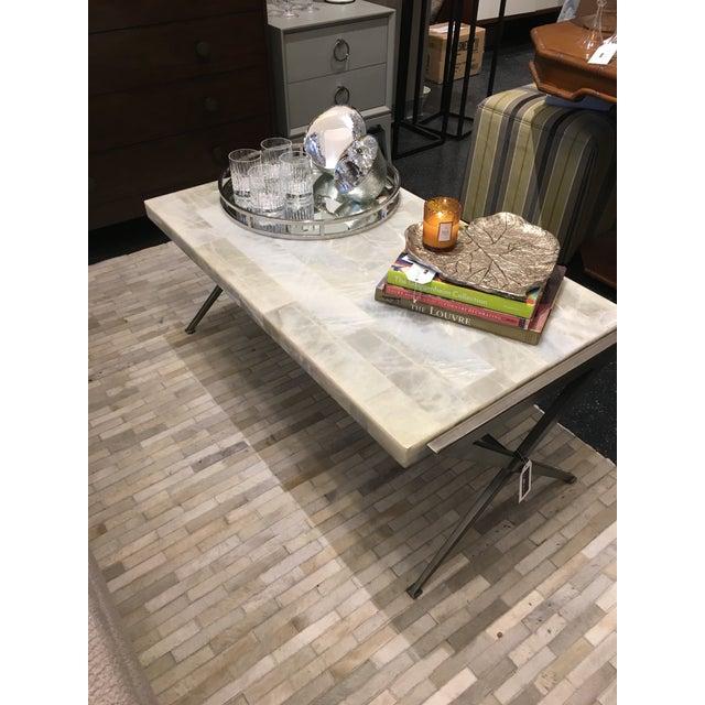 White Artistca Home Greta Rectangular Cocktail Table For Sale - Image 8 of 10