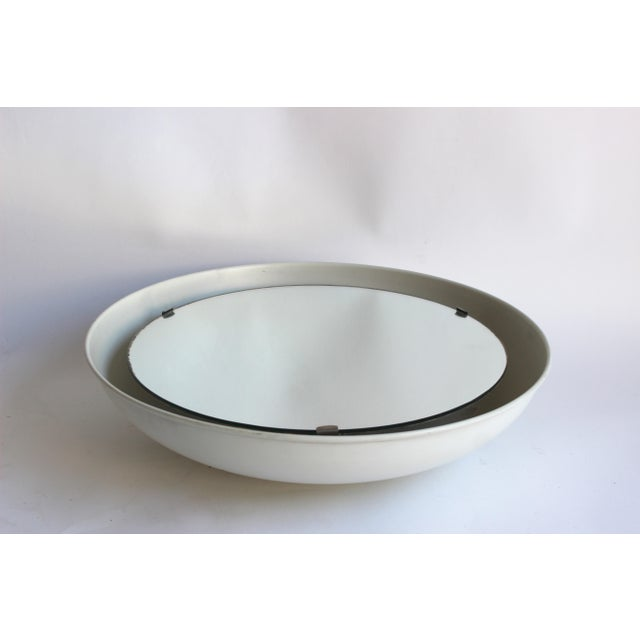 Metal Rare Illuminated Metal Mirror by Arne Jacobsen for Louis Poulsen For Sale - Image 7 of 8