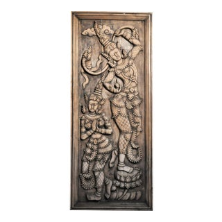 Southeast Asian Wood Carving of a Goddess For Sale