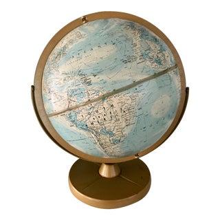 Vintage 1960s Replogle Globe on Metal Stand For Sale