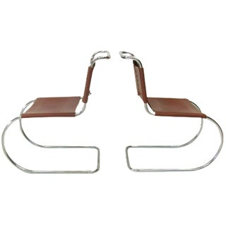 Mies Van Der Rohe Mr-10 Chairs - A Pair For Sale
