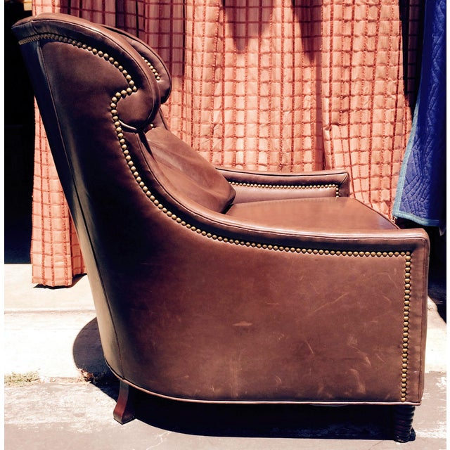 2 Baker Furniture Tuileries Leather Chairs - Image 3 of 9