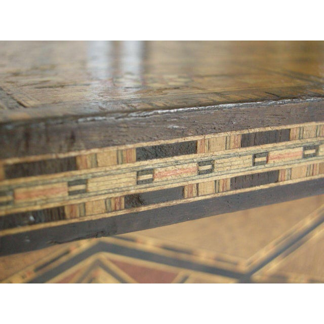 Bone Levantine Syrian Inlay/Parquetry Bench For Sale - Image 7 of 11