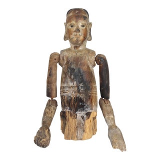 Very Rare 18th or 19th Century Carved Wood Figure From the Pacific Rim. For Sale