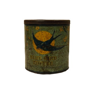 Vintage Tole Toffee Tin From England.
