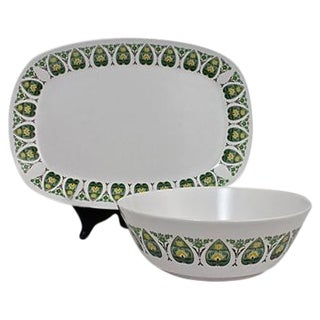 Noritake Serving Platter & Bowl - A Pair