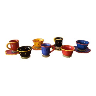 11pc Misc Lot Susan Wingets Certified International Colorful Porcelain Luncheon Set For Sale