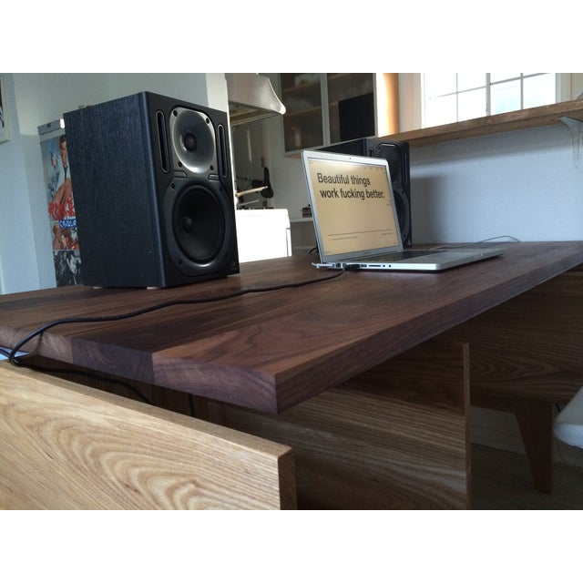 Hand Built Desk With Floating Walnut Top - Image 9 of 9