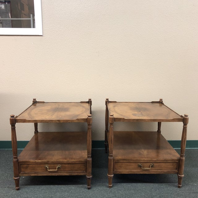 Baker Furniture Mid-Century Side Tables - a Pair For Sale - Image 11 of 11
