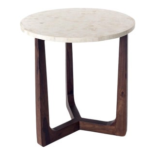 Contemporary Bone Inlay Side Table