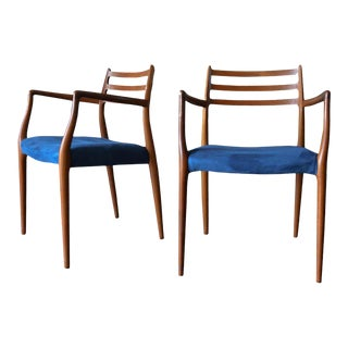 1960s Niels Moller Model 62 Teak Armchairs- A Pair For Sale