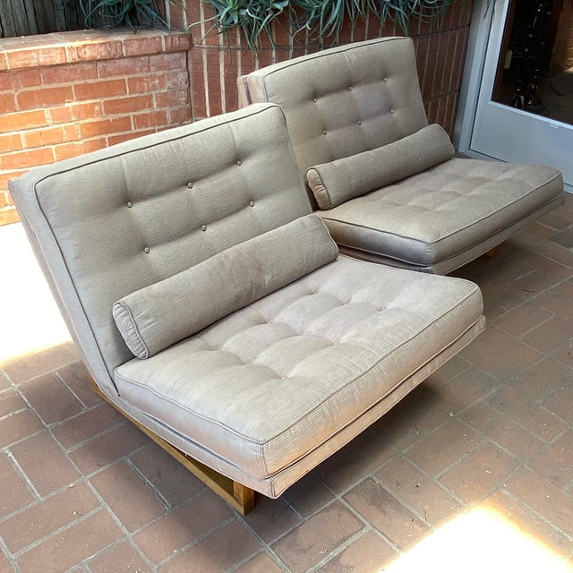 1960s Mid-Century Milo Baughman Style Lounge Chairs - a Pair For Sale - Image 5 of 10